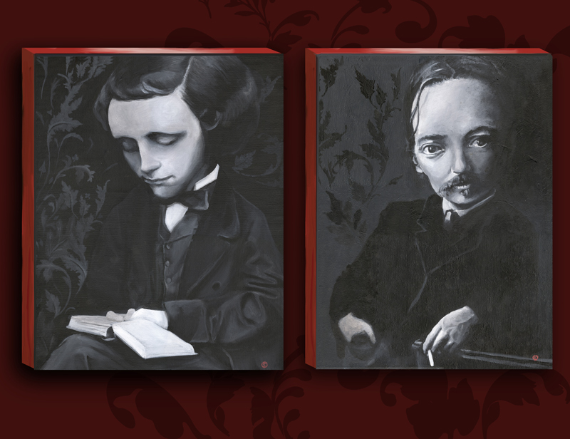 "Lewis Carroll Painting Alt=""lewis Carroll And Robert"